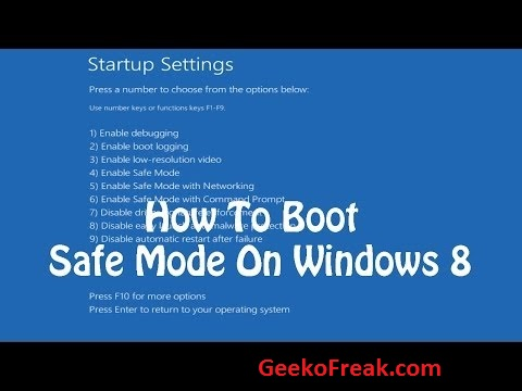 How to enter Windows 8 Safe Mode when you can't boot Windows 8