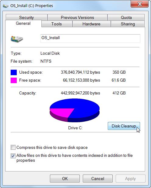 disk clean