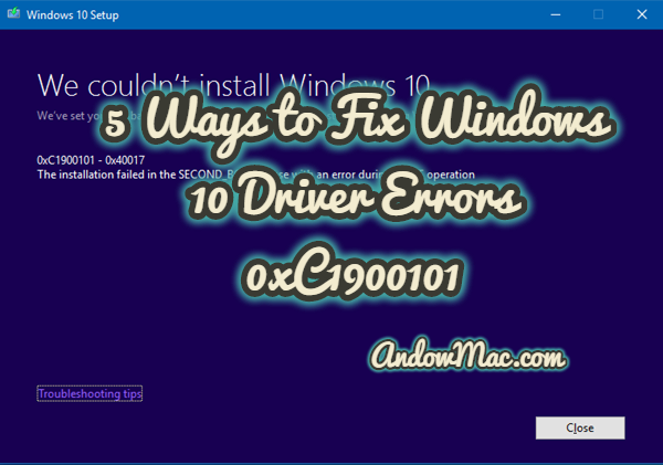 5 Ways to Fix Windows 10 Driver Errors 0xC1900101