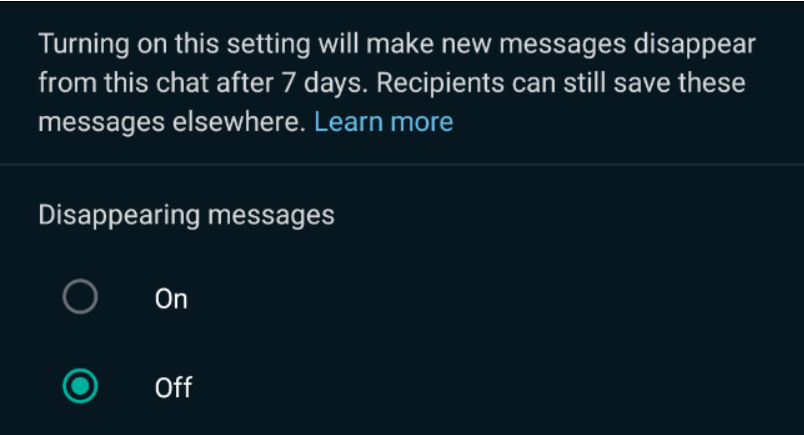 How to Send Disappearing Messages on Whatsapp? (3)