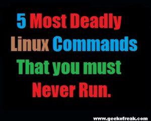 Five mostdeadly