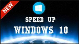 speed up windiws 10