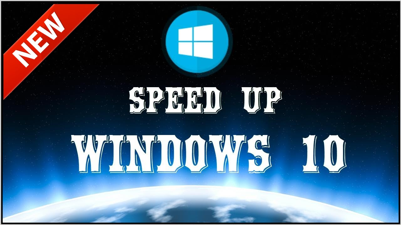 speed up windiws 10