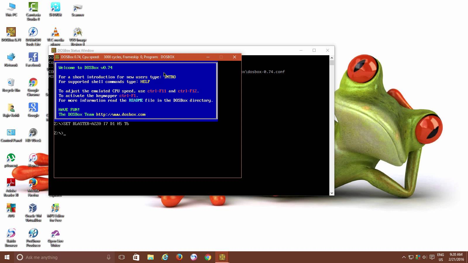 How to run a DOS program in Windows 10