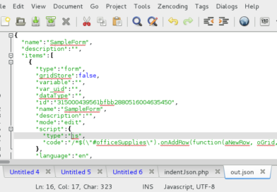 How to open JSON file with Notepad & Chrome