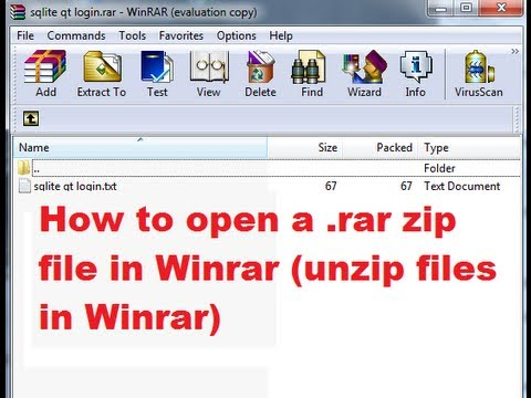 How to open RAR or Zip files