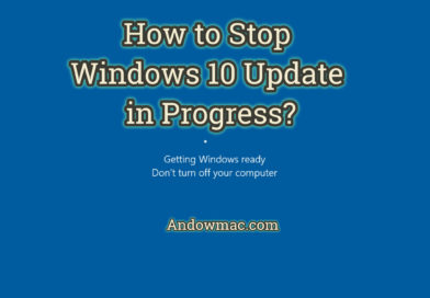 How to Stop Windows 10 Update in Progress?
