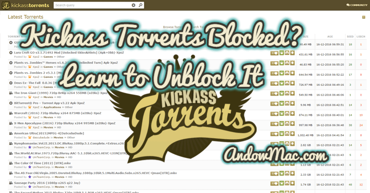 Kickass Torrents Blocked? Learn to Unblock It