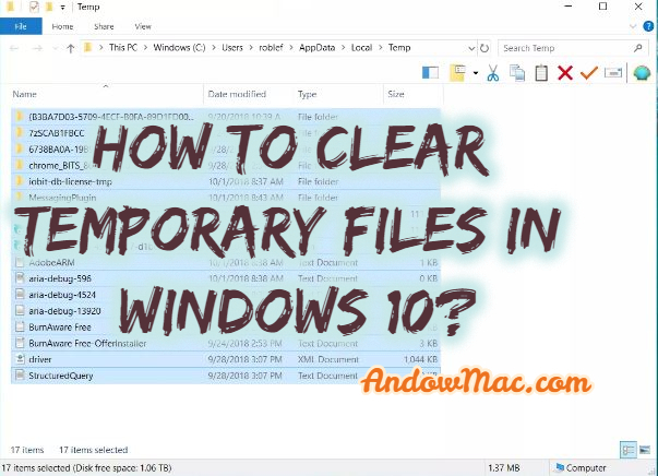 How to Clear Temporary Files in Windows 10?