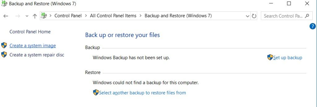 How to Create an Image Backup in Windows 10 and Restore it if required? (2)