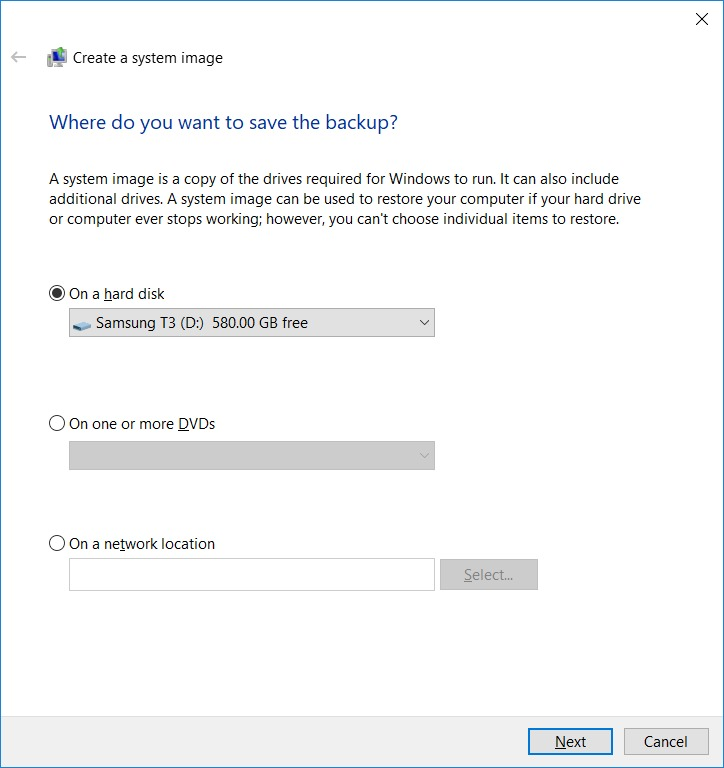 How to Create an Image Backup in Windows 10 and Restore it if required? (3)