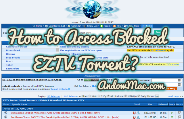 How to Access Blocked EZTV Torrent?