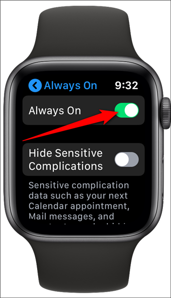 How to Disable the Apple Watch's Always-on Display? (5)
