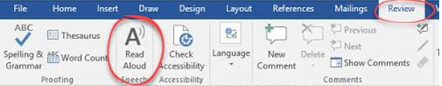 How to Use the Speak and Read Aloud Commands in Microsoft Word to Make it Read to You? (3)